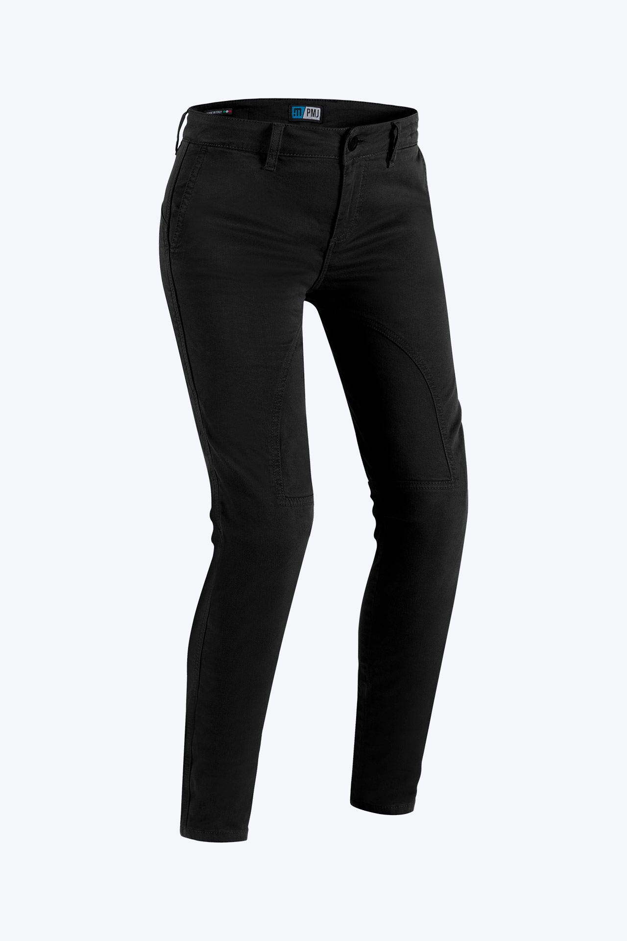 Jeans da moto donna con protezioni e Twaron® PMJ SANTIAGO LADY Nero 1