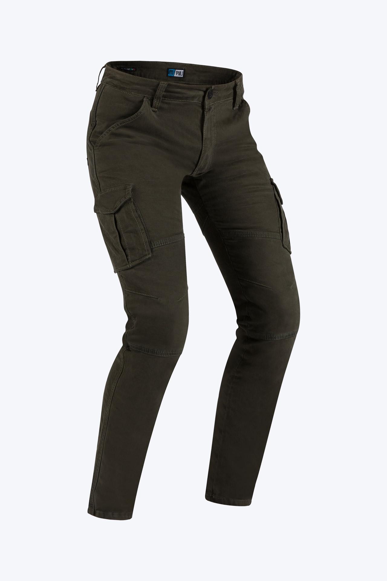 Pantaloni da moto con protezioni e Twaron® PMJ SANTIAGO moro 1