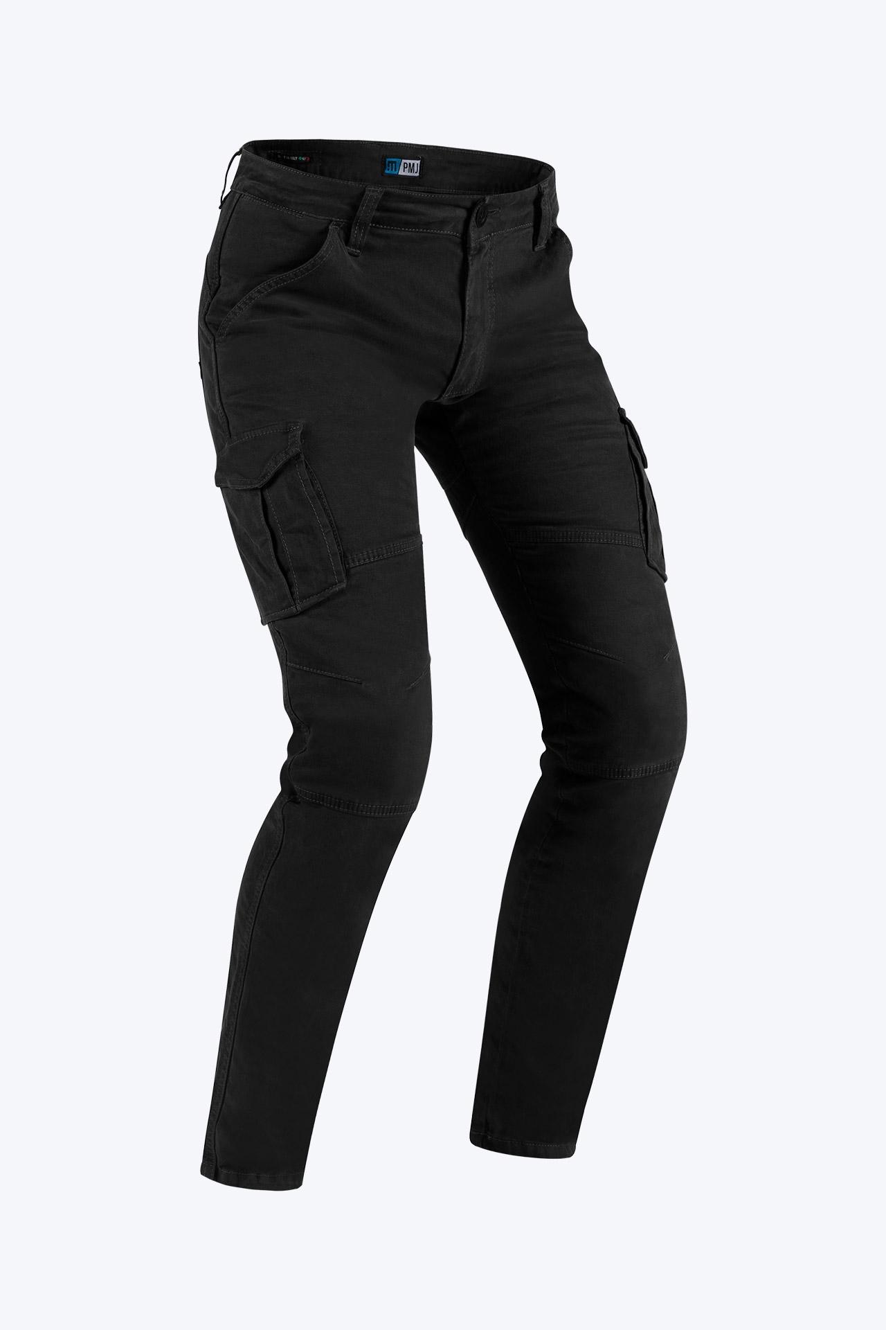 Pantaloni da moto con protezioni e Twaron® PMJ SANTIAGO Nero 1