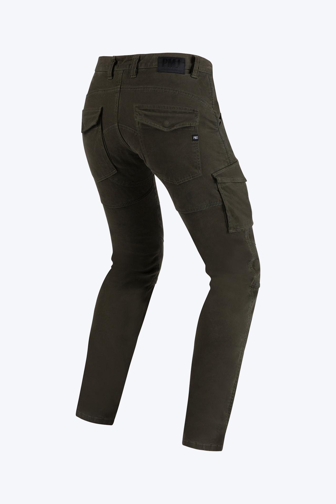 Pantaloni da moto con protezioni e Twaron® PMJ SANTIAGO moro 2