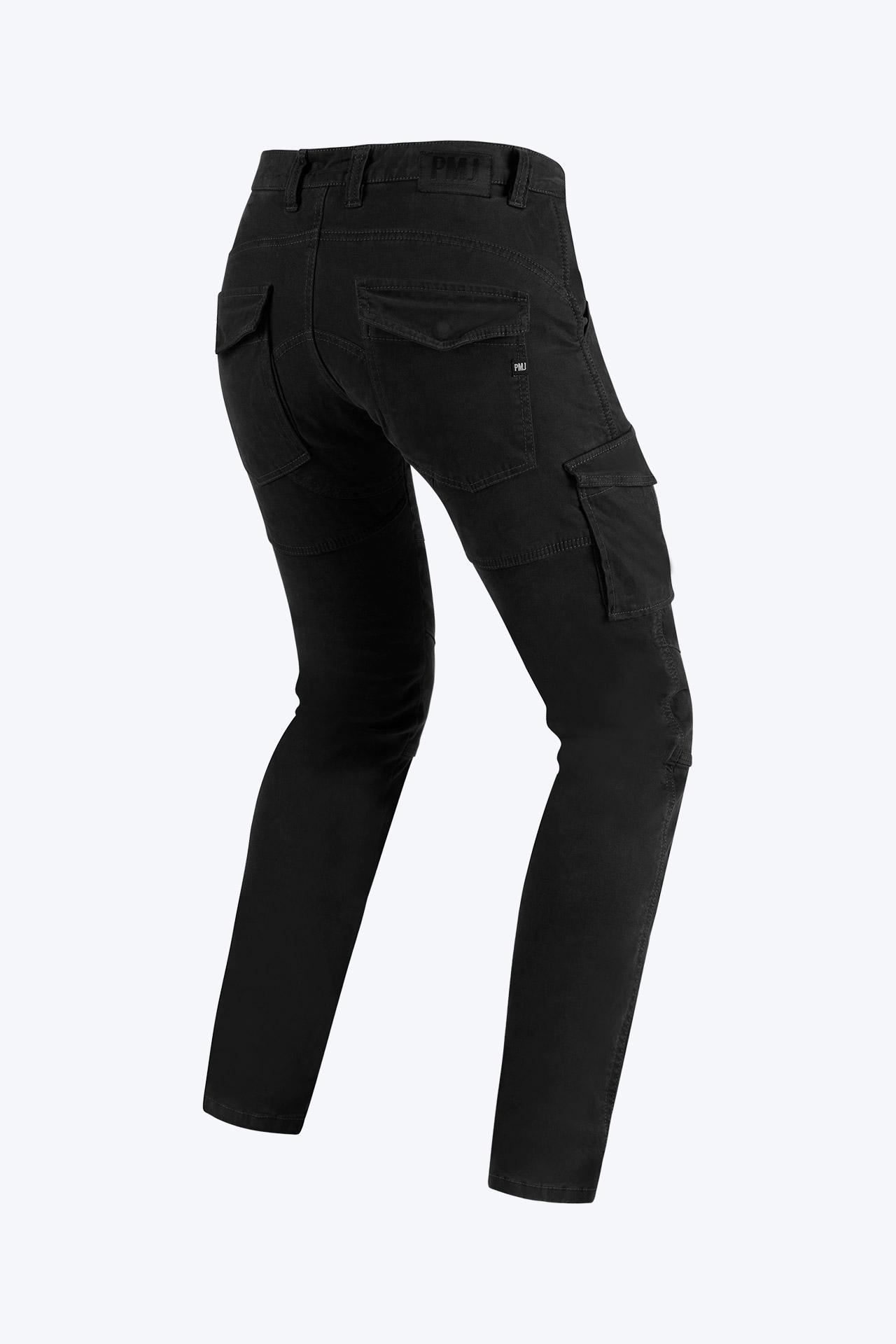 Pantaloni da moto con protezioni e Twaron® PMJ SANTIAGO Nero 2