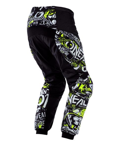 Completo cross O'Neal ELEMENT ATTACK 2020 Giallo Fluo maglia+pantaloni 2