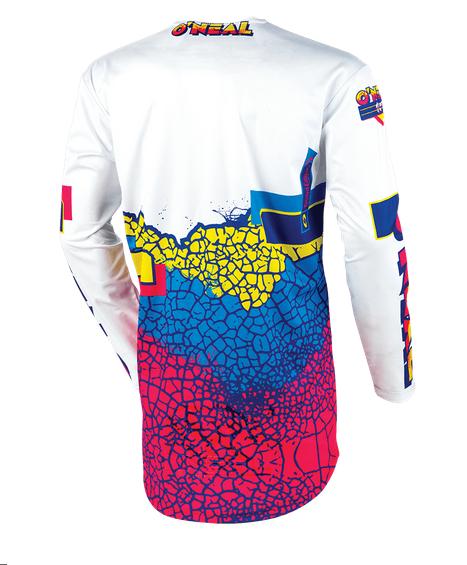 Completo cross O'Neal MAYHEM CRACKLE 91 yellow white blue maglia+pantaloni 3