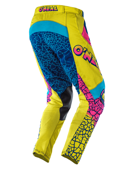 Completo cross O'Neal MAYHEM CRACKLE 91 yellow white blue maglia+pantaloni 2