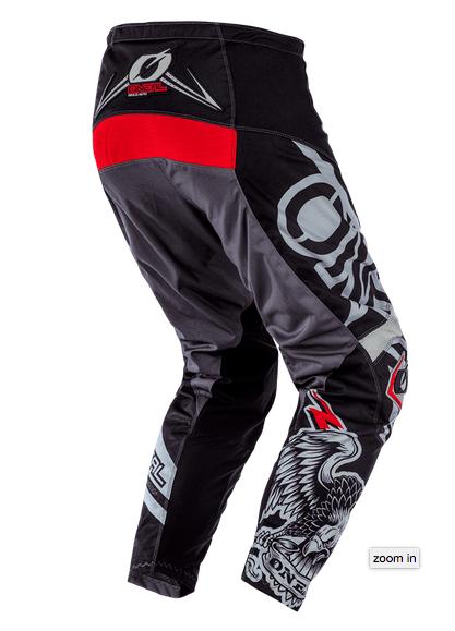 Completo cross O'Neal ELEMENT WARHAWK black gray 2020 maglia+pantaloni 2