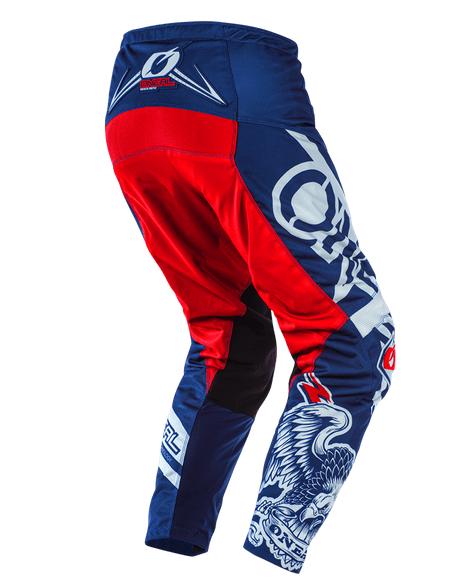 Completo cross O'Neal ELEMENT WARHAWK blue red 2020 maglia+pantaloni 2