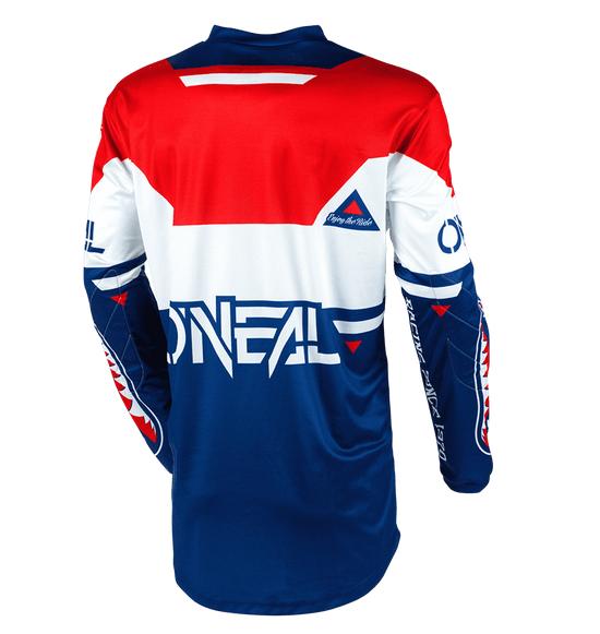 Completo cross O'Neal ELEMENT WARHAWK blue red 2020 maglia+pantaloni 3