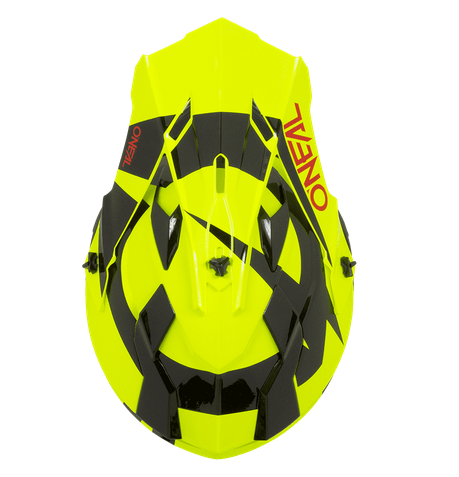Casco cross bambino Serie 2 O'Neal SLICK yellow fluo black 1