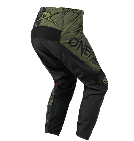 Completo cross O'Neal ELEMENT RIDE 2021 black green maglia+pantaloni 2