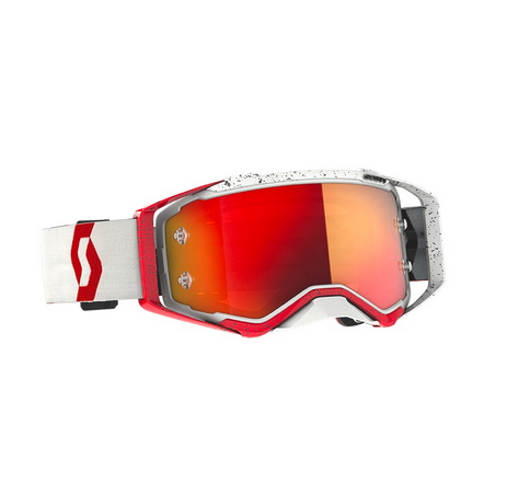 Occhiali (maschera) cross Scott PROSPECT red white lente orange chrome 1
