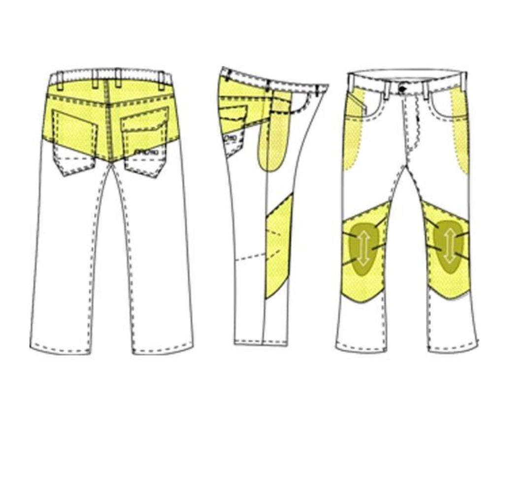 Jeans da moto con protezioni e Twaron® PMJ CAFERACER Grigio 3