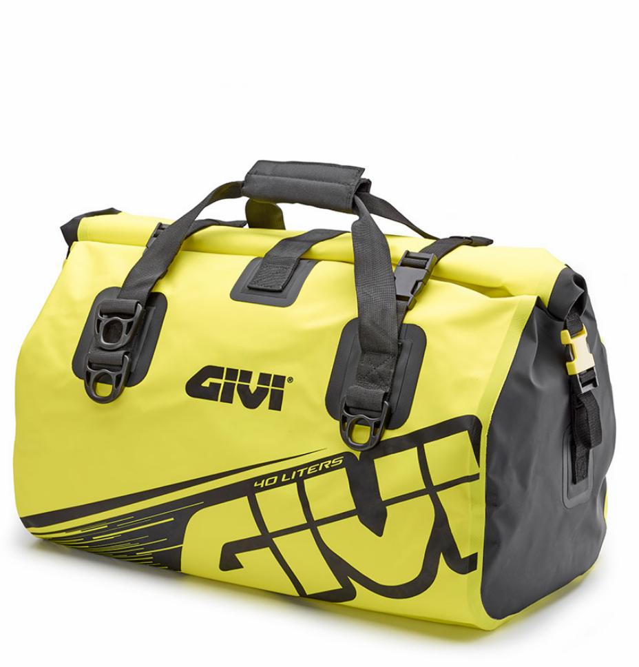 Borsa da sella a rullo waterproof Givi 40lt EA115FL giallo fluo 1