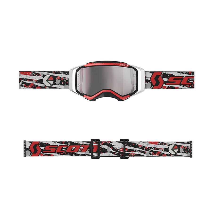 Occhiali (maschera) cross Scott PROSPECT ETHIKA red black lente silver chrome 2
