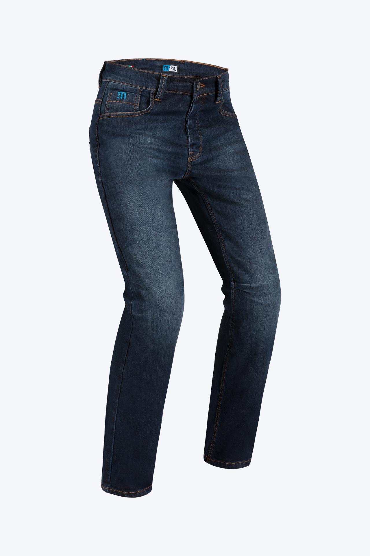 Jeans da moto con protezioni e Twaron® PMJ VOYAGER SHORT Blu 1