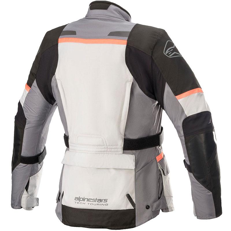 Giacca moto donna Alpinestars STELLA ANDES V3 Drystar grigio nero corallo 2
