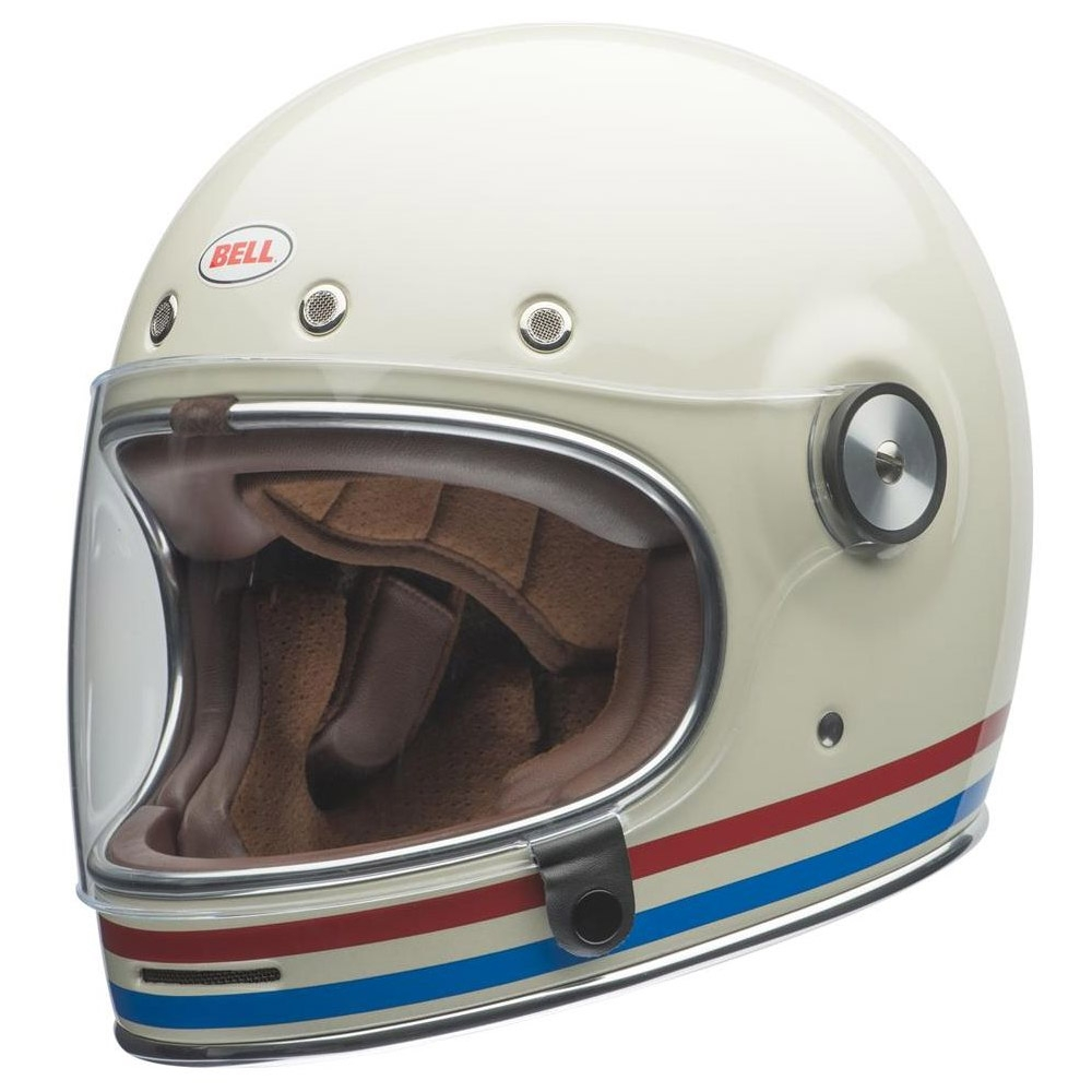 Casco integrale Bell BULLIT DLX Stripes Pearl White 1
