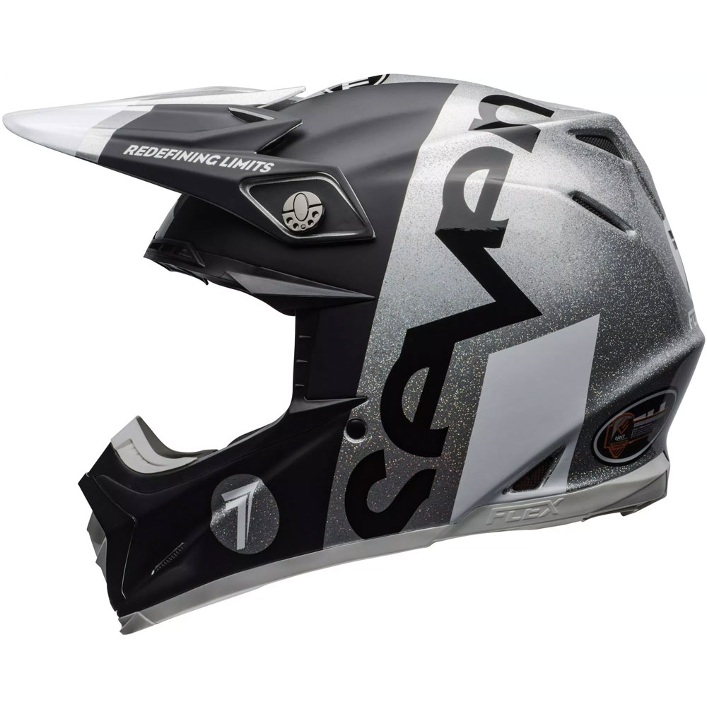 Casco cross Bell Moto 9 Flex Carbon Seven Galaxy Nero Silver 1