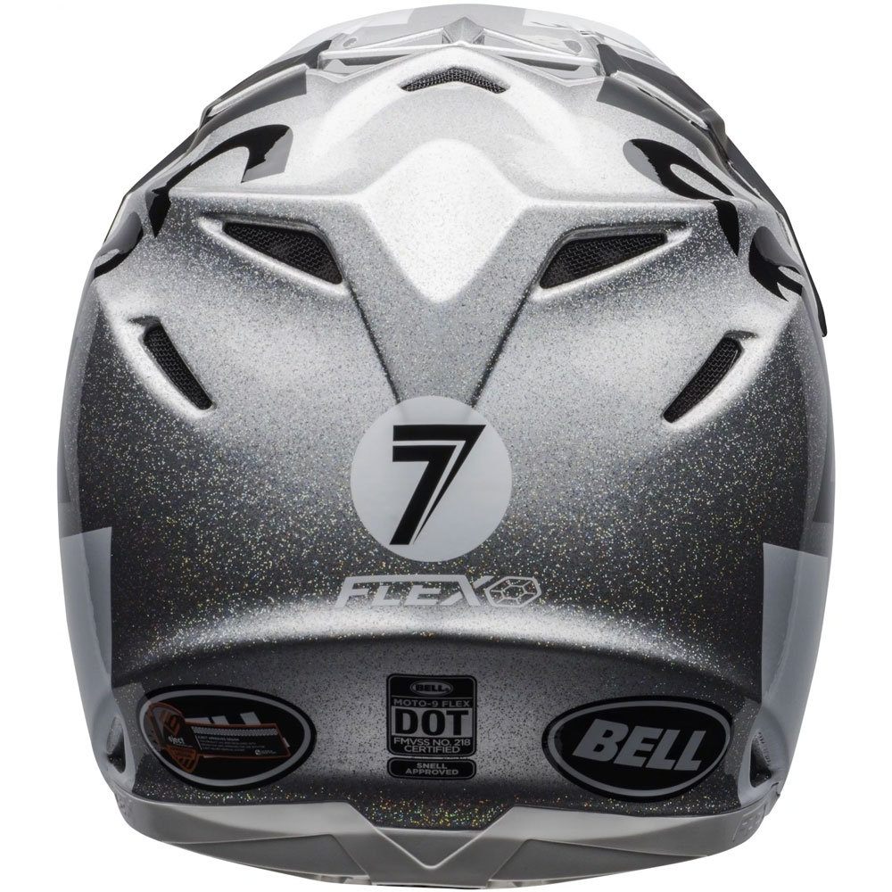 Casco cross Bell Moto 9 Flex Carbon Seven Galaxy Nero Silver 2