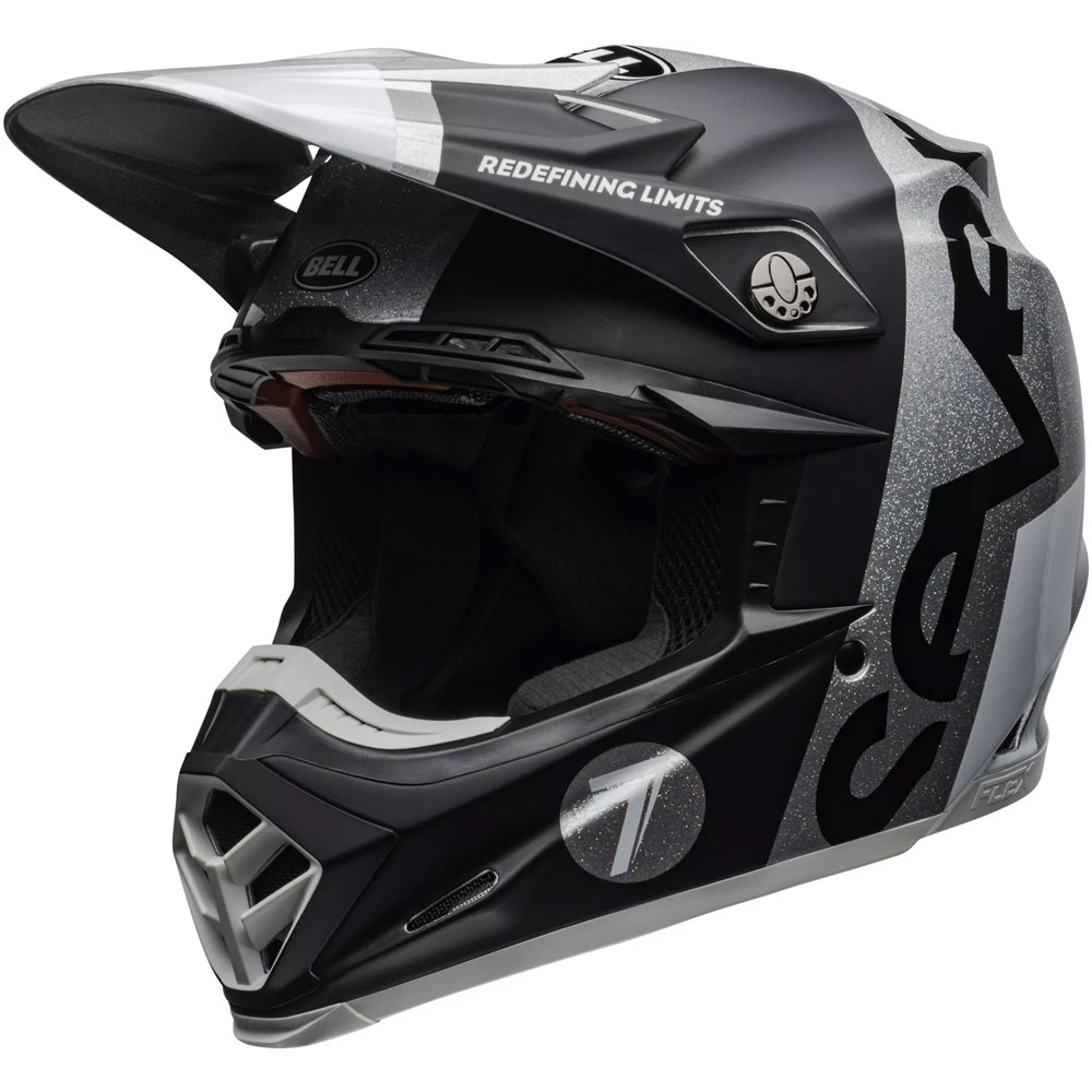 Casco cross Bell Moto 9 Flex Carbon Seven Galaxy Nero Silver 3