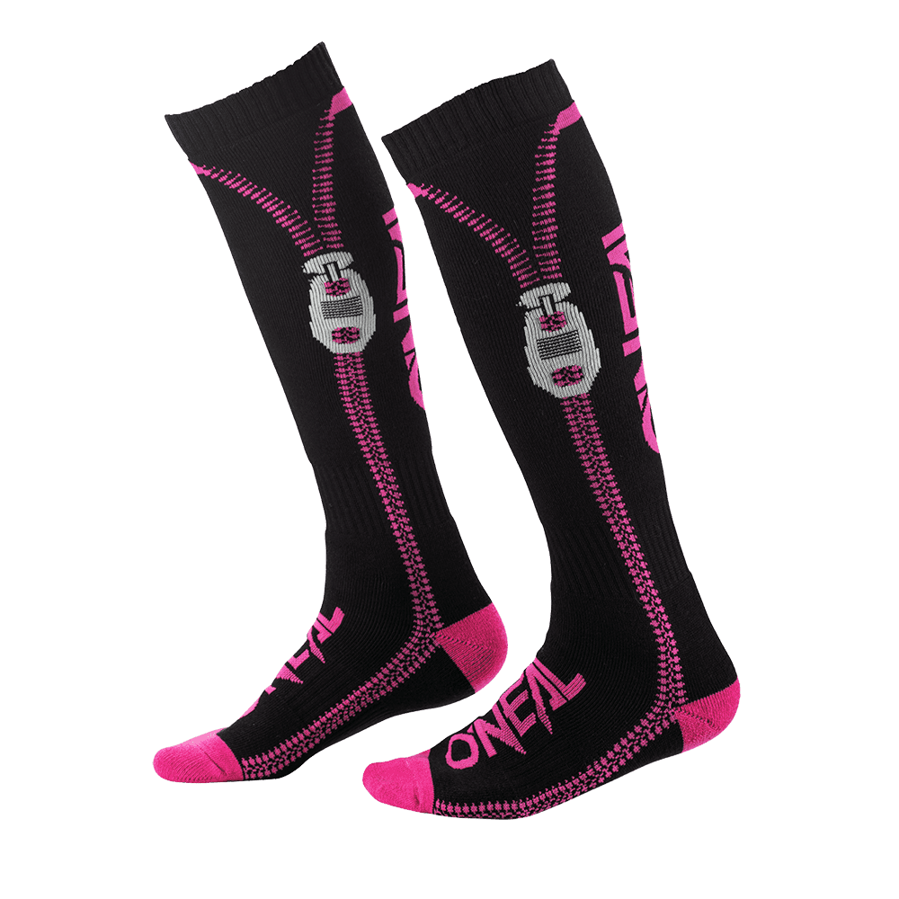 Calze cross donna O'Neal PRO MX SOCKS ZIPPER pink (one size) 1