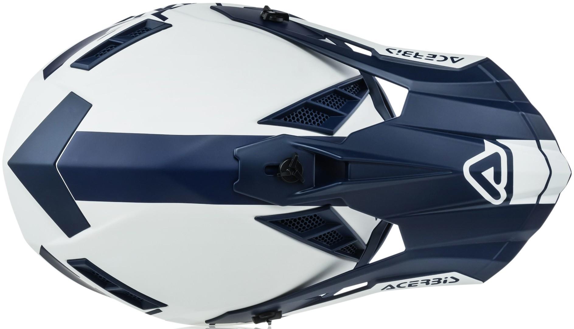 Casco cross enduro Acerbis X-PRO VTR Bianco Blu 3