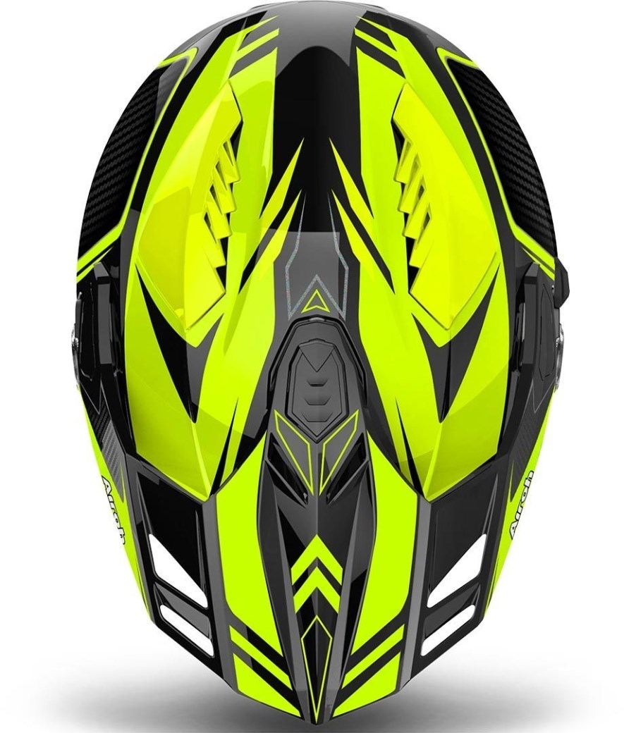 Casco integrale dual road Airoh COMMANDER CARBON Yellow Gloss 3