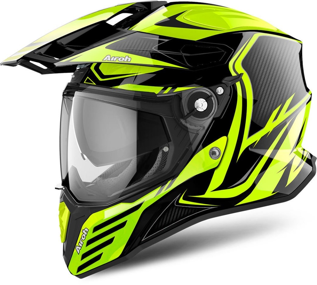 Casco integrale dual road Airoh COMMANDER CARBON Yellow Gloss 1