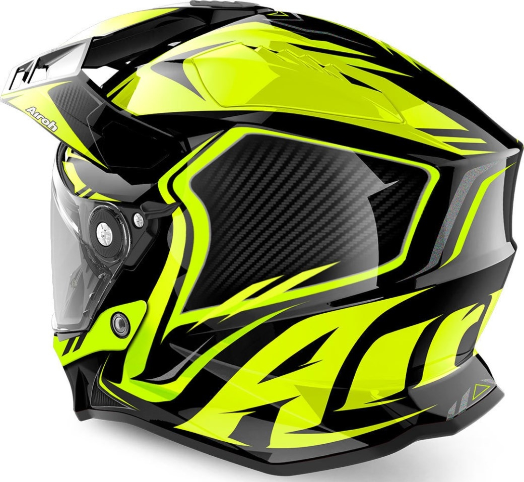 Casco integrale dual road Airoh COMMANDER CARBON Yellow Gloss 2