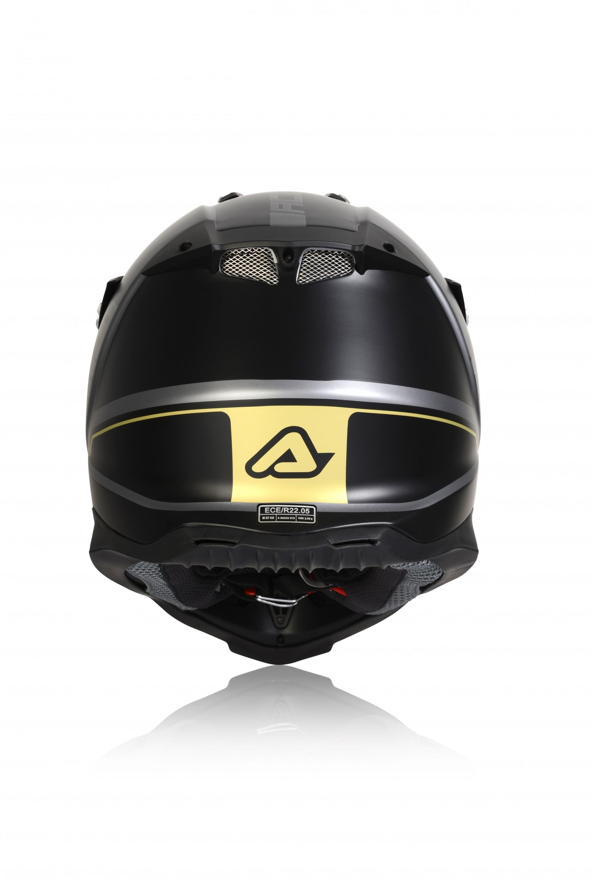 Casco cross Acerbis IMPACT X-RACER VTR nero grigio 3