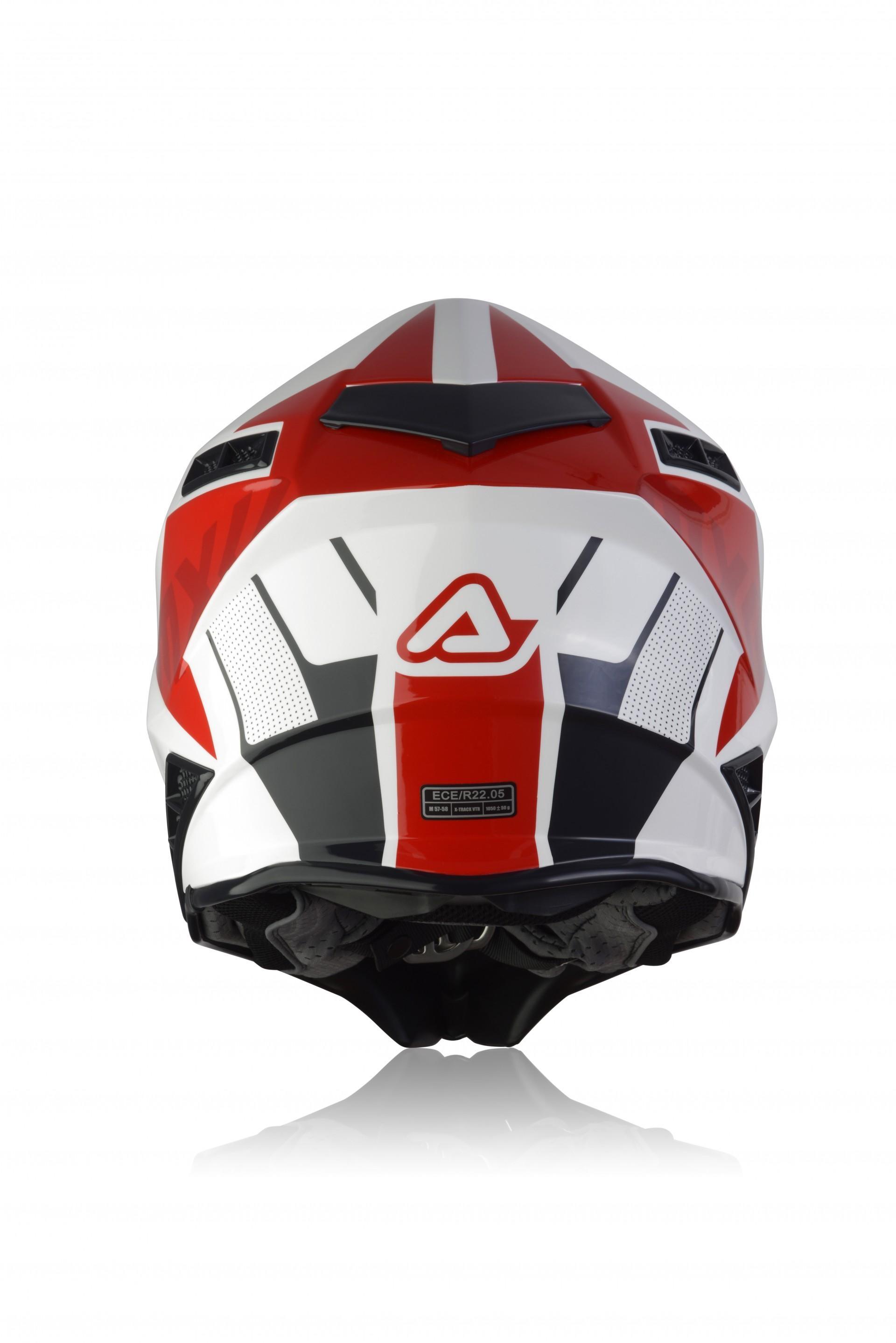Casco cross Acerbis IMPACT X-TRACK VTR bianco rosso 2
