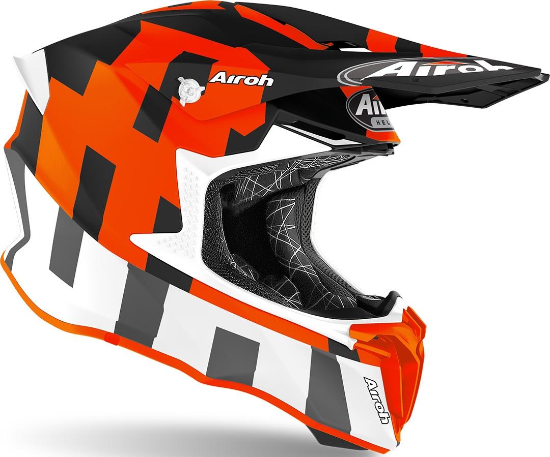Casco Airoh cross enduro TWIST 2.0 FRAME Orange Matt 2