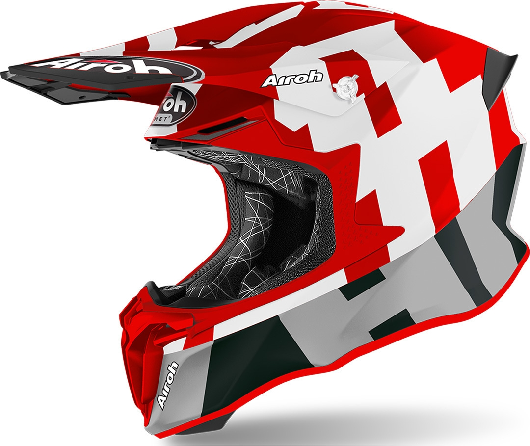 Casco Airoh cross enduro TWIST 2.0 FRAME Red Matt 1
