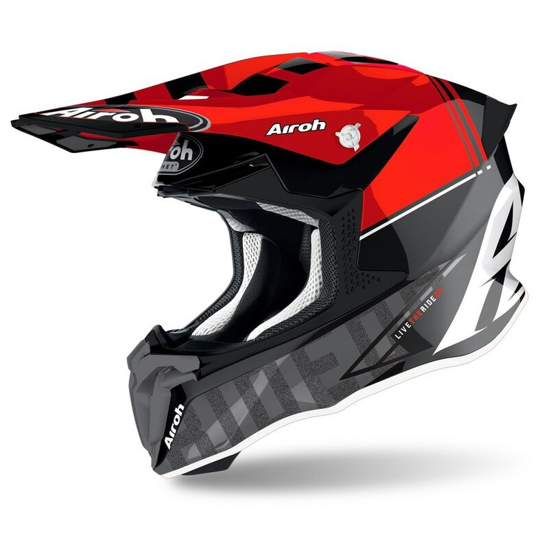 Casco Airoh cross enduro TWIST 2.0 TECH Red Gloss 1