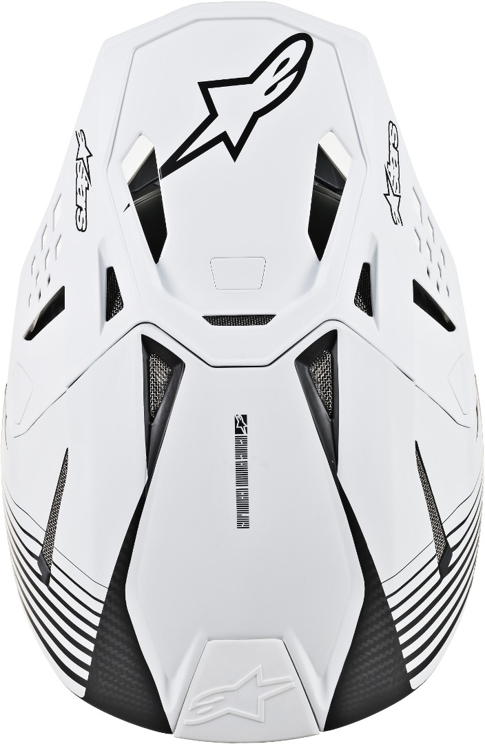 Casco cross alpinestars SUPERTECH S-M10 DYNO Black matte carbon white 3