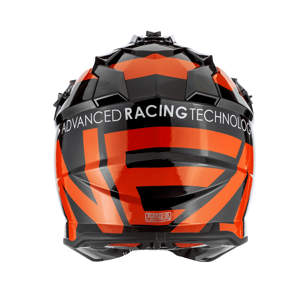 Casco cross enduro O'Neal Serie 2 SLICK nero arancio 2