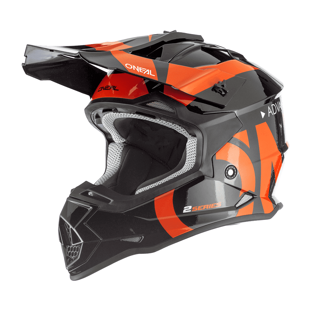 Casco cross enduro O'Neal Serie 2 SLICK nero arancio 1