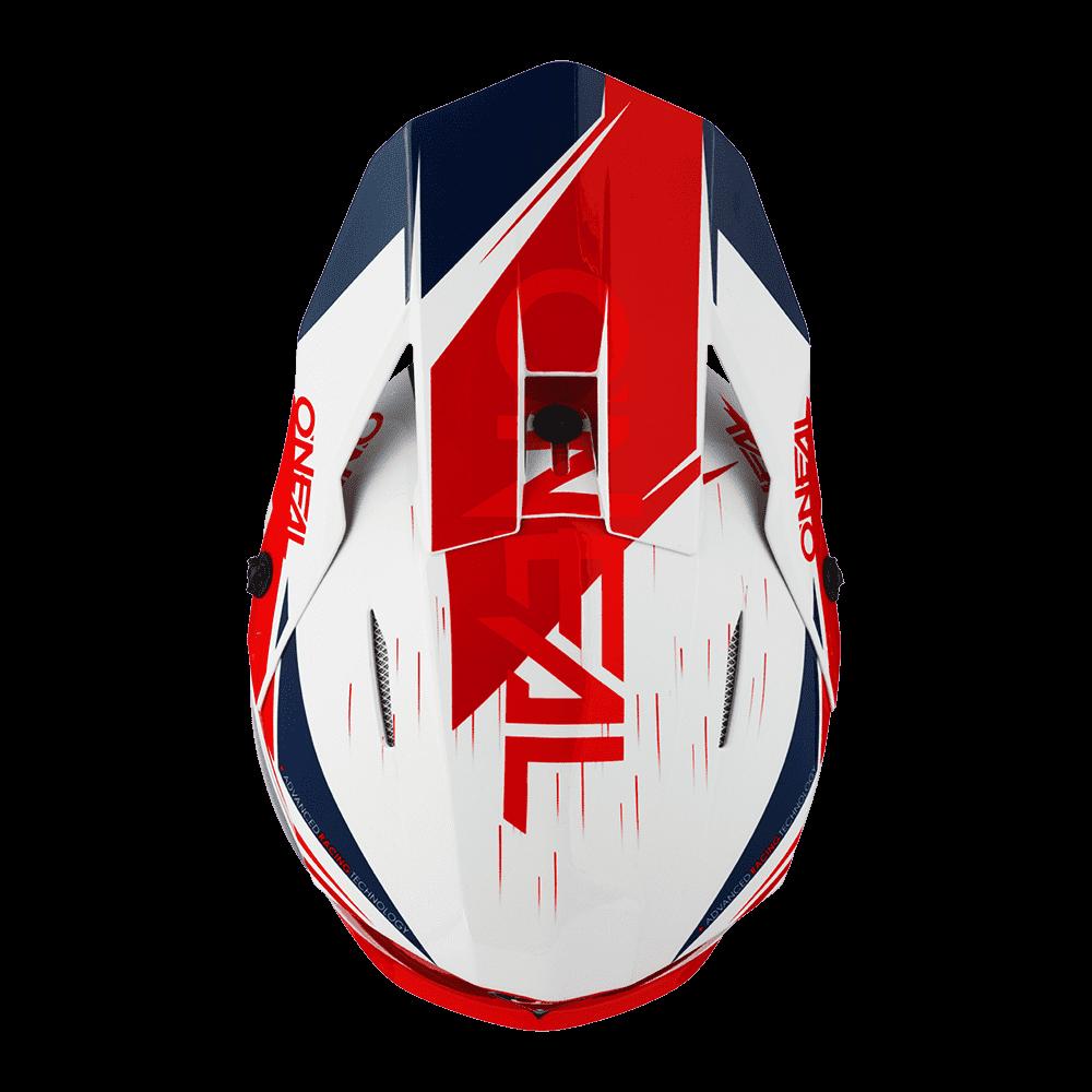 Casco cross enduro O'Neal Serie 3 STARDUST bianco blu rosso 3