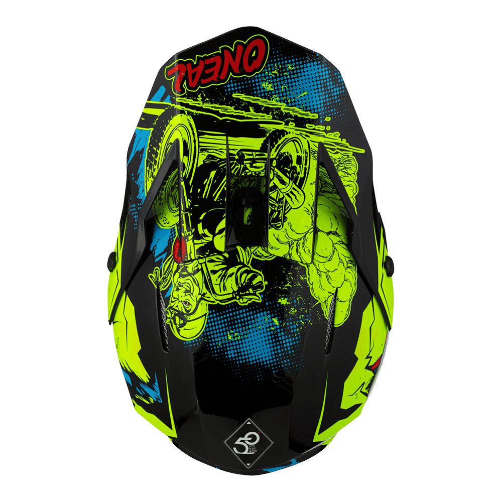 Casco cross enduro O'Neal Serie 3 VILLAIN 2.0 neon yellow 3