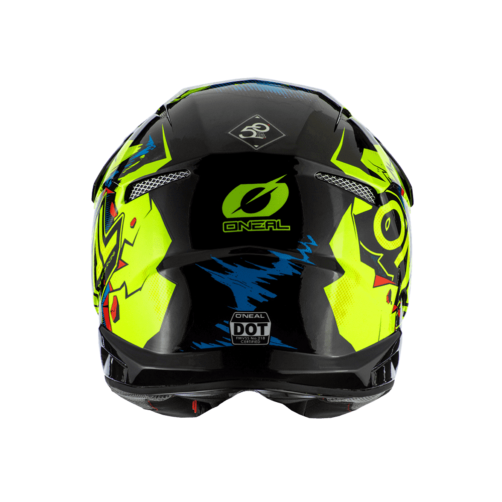 Casco cross enduro O'Neal Serie 3 VILLAIN 2.0 neon yellow 2
