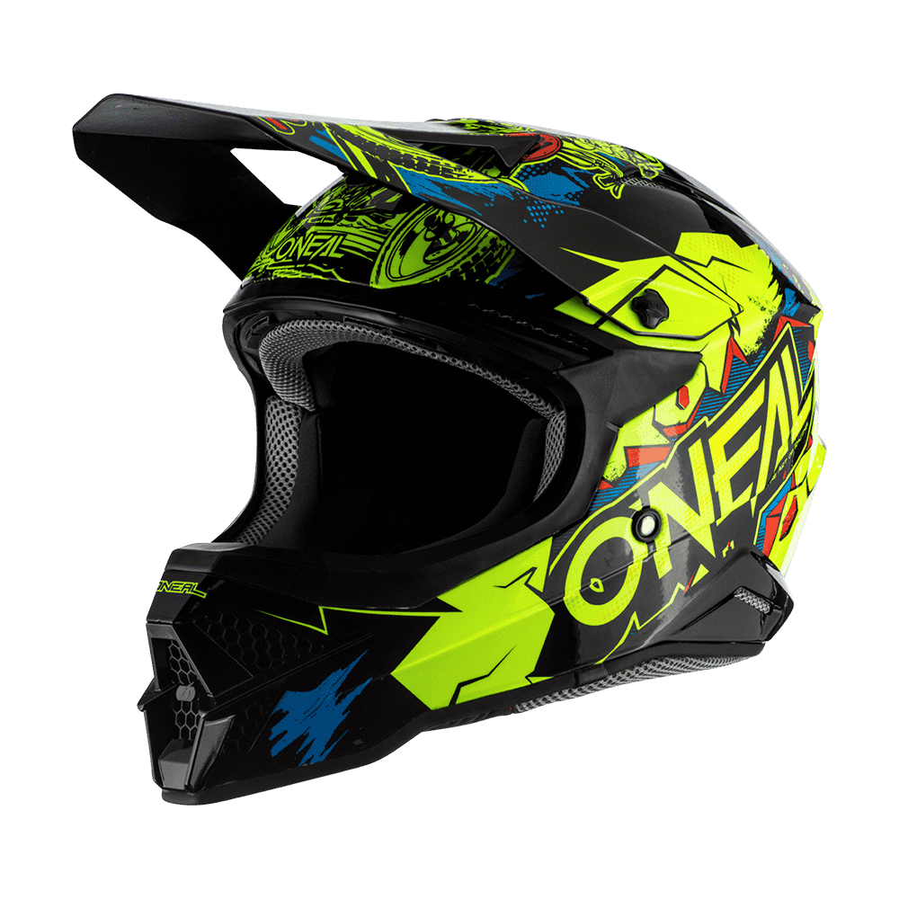 Casco cross enduro O'Neal Serie 3 VILLAIN 2.0 neon yellow 1