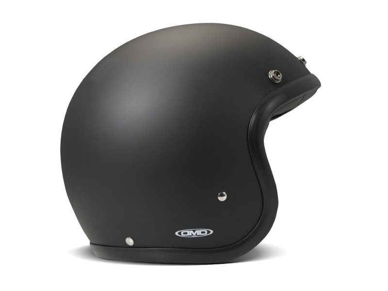 Casco jet DMD Vintage MATT BLACK 1