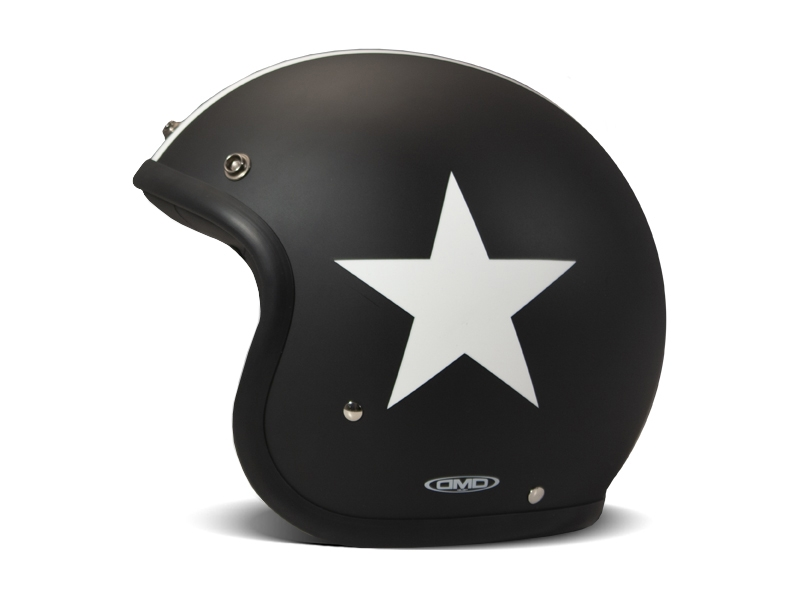 Casco jet DMD Vintage STAR BLACK 2