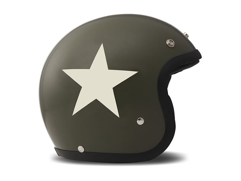 Casco jet DMD Vintage STAR GREEN 2