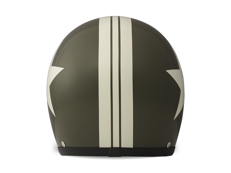 Casco jet DMD Vintage STAR GREEN 1