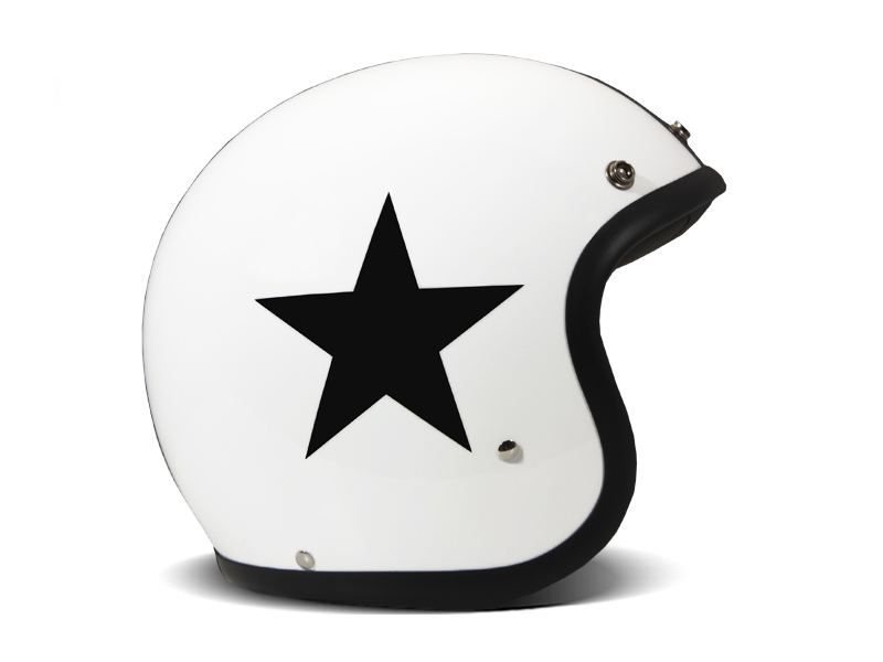 Casco jet DMD Vintage STAR WHITE 1