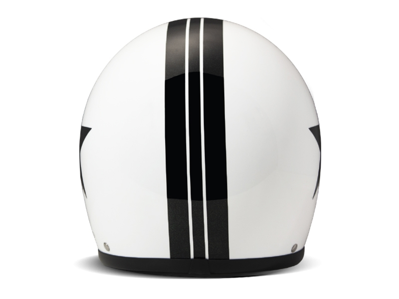 Casco jet DMD Vintage STAR WHITE 3