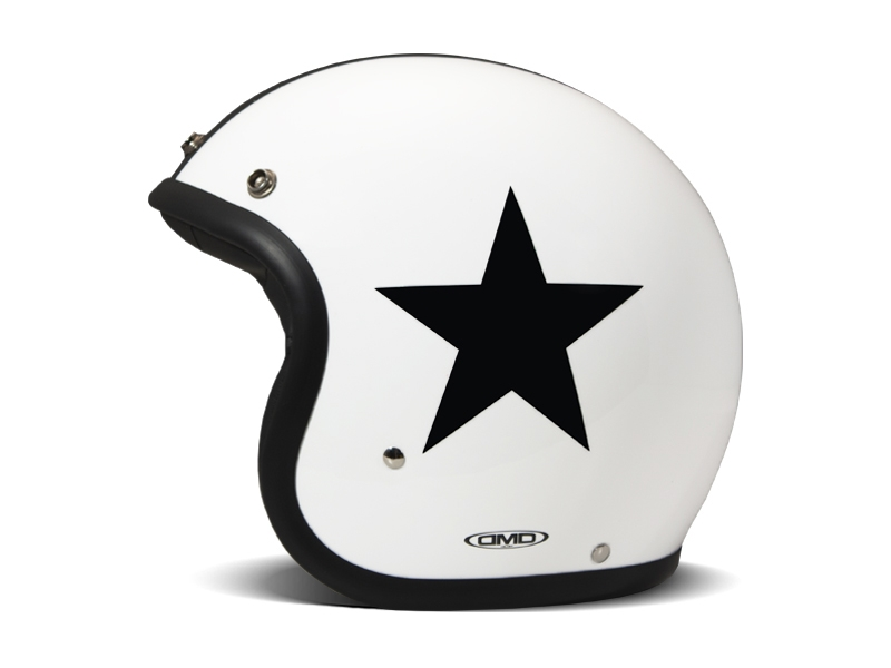 Casco jet DMD Vintage STAR WHITE 2