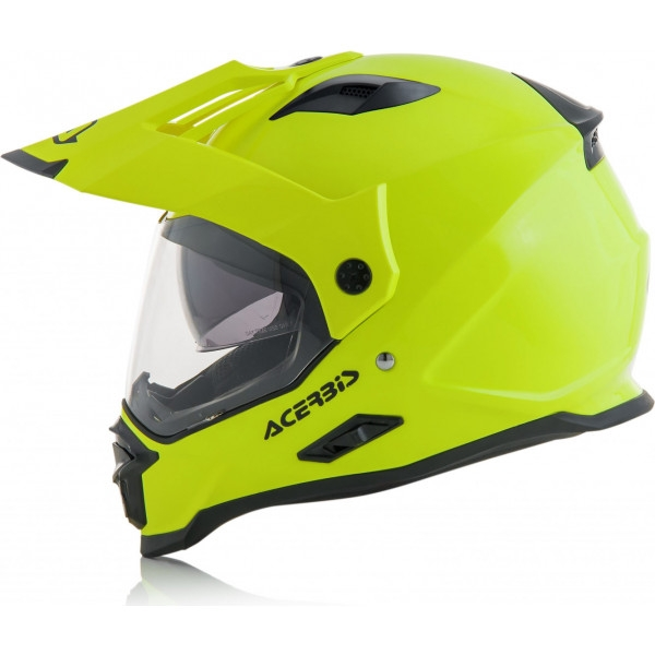 Casco dual road Acerbis REACTIVE giallo fluo 3