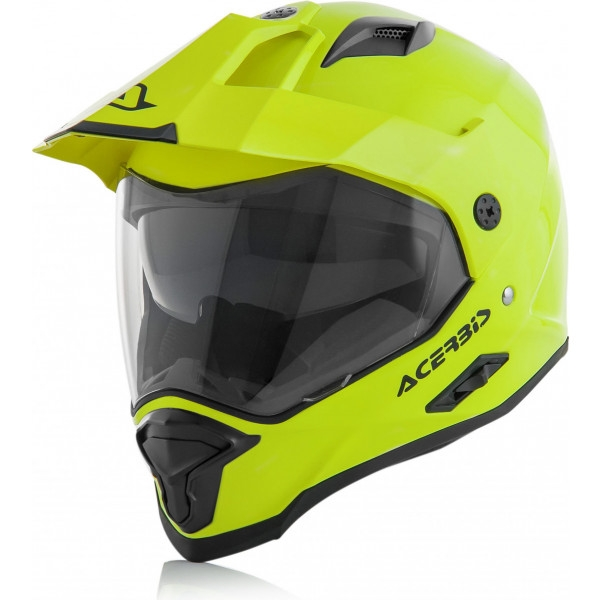 Casco dual road Acerbis REACTIVE giallo fluo 1