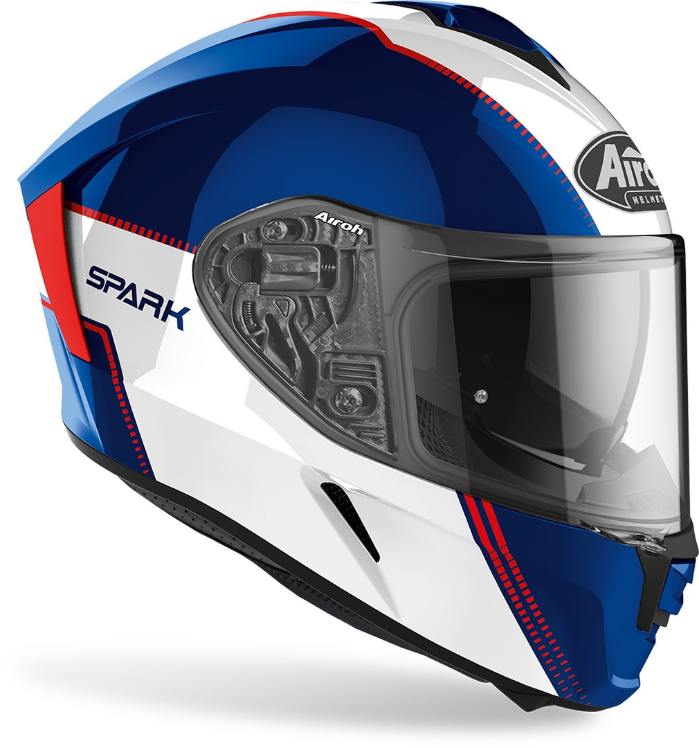Casco integrale Airoh SPARK FLOW Blue Red Gloss 2
